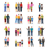 Buddies Friends Flat icons Collection Stock Images