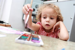 Budding artist. Royalty Free Stock Images