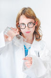 Budding scientist Royalty Free Stock Photography