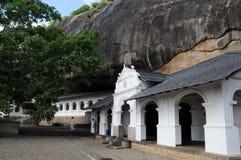 Buddish洞寺庙Dambulla,联合国科教文组织世界遗产名录站点,斯里兰卡海岛的中部 最大和最保存良好的洞 免版税库存照片