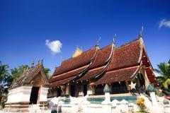 Buddish tempel i Laos Arkivfoton