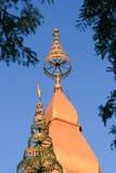 Buddish tempel runt om Laos Royaltyfri Fotografi