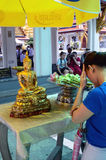 Buddisht Praying, Wat Phra Kaew Royalty Free Stock Images