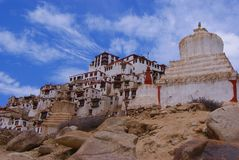 Buddisht temple. Leh architecture nature sky landscape asia historic building mountains Royalty Free Stock Photo