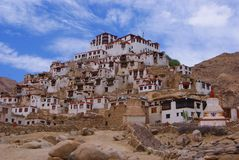 Buddisht temple. Leh architecture nature sky landscape asia historic building mountains Royalty Free Stock Image