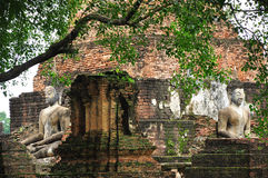 Buddism ancient remains. In Sukhothai province, Thailand, Asia royalty free stock photos