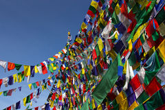 Buddism bönflaggor Royaltyfri Foto