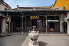 A Buddism godness Guanyin Mountain Goddess of Mercy Temple Stock Image