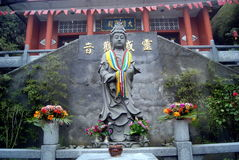 A Buddism godness Guanyin statue of Buddha Royalty Free Stock Photo