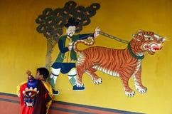 Buddism i Bhutan Arkivfoto