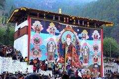 Buddism i Bhutan Arkivbild