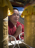 Buddism - Monk - Tibet - Kina Arkivbild