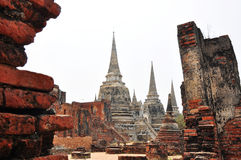 Buddism pagoda at ancient remains. /In Ayutthaya province, Thailand, Asia Stock Image