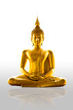 Buddism statue Isolated. Buddism statue on the White background royalty free stock photo