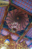 Buddism temple in Quzhou china. Colourful roof of a Buddhism temple in Quzhou china Stock Image