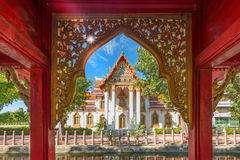 Buddism temple in Thailand. Amazing marble temple,Bangkok,Thailand Royalty Free Stock Photography