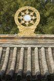 Buddism wheel. The buddism wheel in China royalty free stock photos