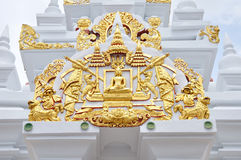 Buddismarkitektur i Thailand Royaltyfria Bilder