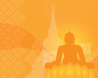 Buddismbakgrund Arkivbild