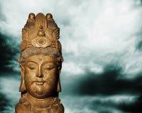Buddismconept kinesiska buddha som ch'ing dyn Arkivbilder