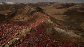 Buddisminstitut i Tibet Royaltyfri Fotografi