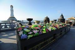 Buddismpark, Sanya nashan kulturell turismzon Royaltyfria Bilder