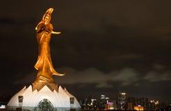 Buddismstaty - gudinna av förskoning Arkivbild