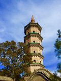 Buddismtorn i jincien shanxi Kina arkivbild