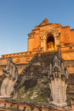 buddist塔在清迈,泰国 免版税库存图片