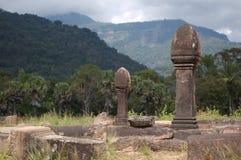 buddist老挝phu寺庙wat 库存照片