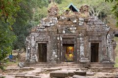 buddist老挝phu寺庙wat 免版税图库摄影