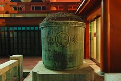Buddist ash urn. Sacred Buddhist ash-urn at the yard of Asakusa Temple, Tokyo Japan Stock Photo