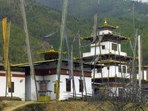 Buddist Dzong - Thimphu - Bhutan Arkivfoto
