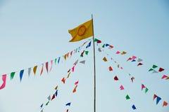 Buddist flagga royaltyfria foton