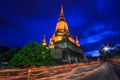 Buddist Lent Day på nattetid Fotografering för Bildbyråer