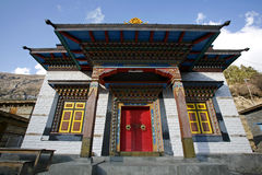 Buddist Monastery, Annapurna Stock Image