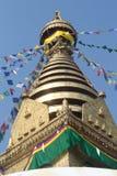 Buddist Monastry, Nepal Arkivbild