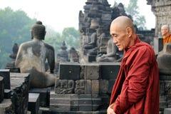 Buddist munk Yogyjakarta Royaltyfri Fotografi