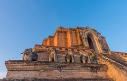Buddist pagoda in Chiang Mai, thailand. Image of landmark buddist pagoda at wat Chedi Luang,Chiang Mai, Thailand Royalty Free Stock Photo