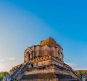 Buddist pagoda in Chiang Mai, thailand. Image of landmark buddist pagoda at wat Chedi Luang,Chiang Mai, Thailand Stock Photo