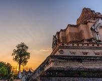 Buddist pagoda in Chiang Mai, thailand. Image of landmark buddist pagoda at wat Chedi Luang,Chiang Mai, Thailand Royalty Free Stock Image