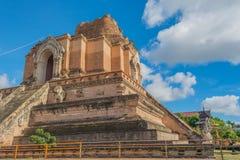 Buddist pagoda at wat Chedi Luang,Chiang Mai. Image of landmark buddist pagoda at wat Chedi Luang,Chiang Mai, Thailand Royalty Free Stock Photos