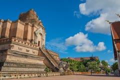 Buddist pagoda at wat Chedi Luang,Chiang Mai. Image of landmark buddist pagoda at wat Chedi Luang,Chiang Mai, Thailand Royalty Free Stock Photo
