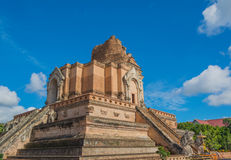 Buddist pagoda at wat Chedi Luang,Chiang Mai. Stock Photos