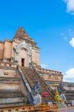 Buddist pagoda at wat Chedi Luang,Chiang Mai. Stock Photo