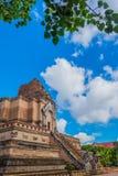 Buddist pagoda at wat Chedi Luang,Chiang Mai. Image of landmark buddist pagoda at wat Chedi Luang,Chiang Mai, Thailand Stock Images