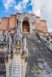 Buddist pagoda at wat Chedi Luang,Chiang Mai. Image of landmark buddist pagoda at wat Chedi Luang,Chiang Mai, Thailand Stock Image