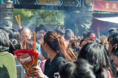 Buddist people Stock Image