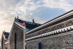 Buddist tempel i Hong Kong New Territories fotografering för bildbyråer