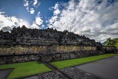 Buddist tempelBorobudur komplex i Yogjakarta i Java Royaltyfri Foto